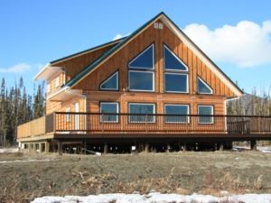 Front View Of Sawmill Home
